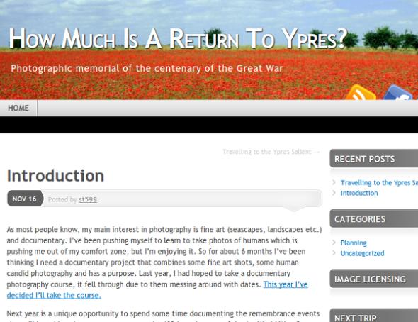 Ypres Blog